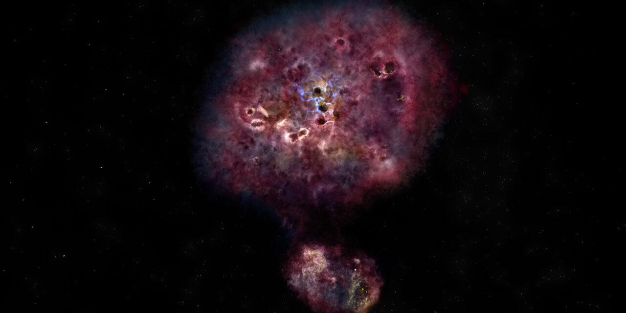 Scovata una galassia lontana e polverosa
