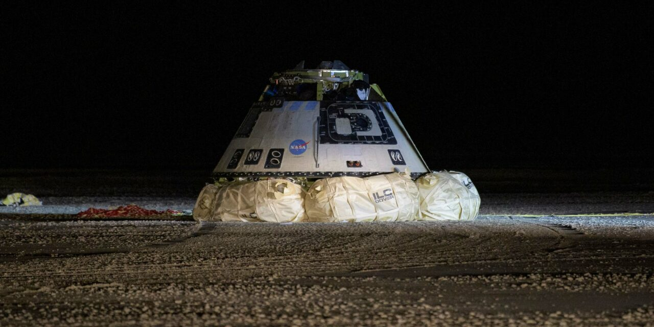Starliner fa ritorno sulla Terra
