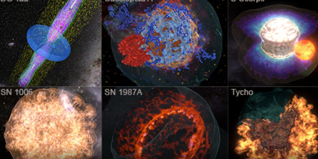 Un tocco 3D per esplosioni e getti stellari