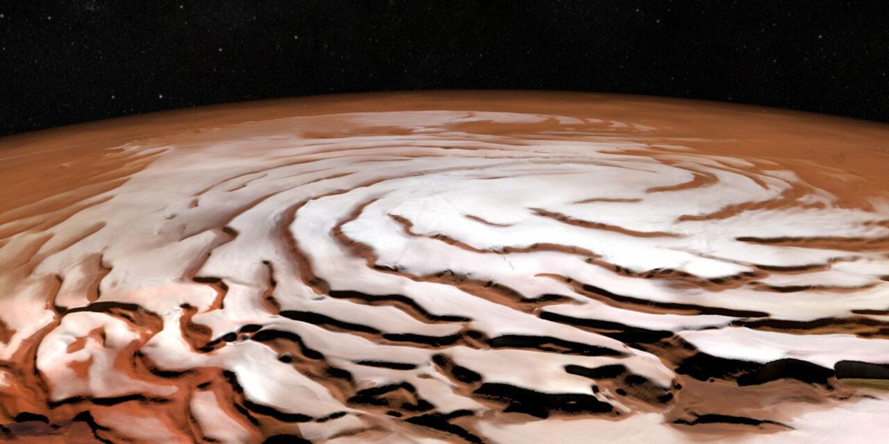 Tempeste e ghiaccio nell'occhio di Mars Express