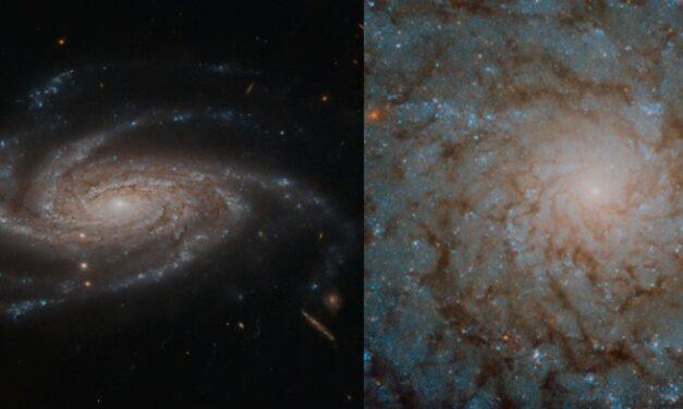 Coppia di spirali per Hubble