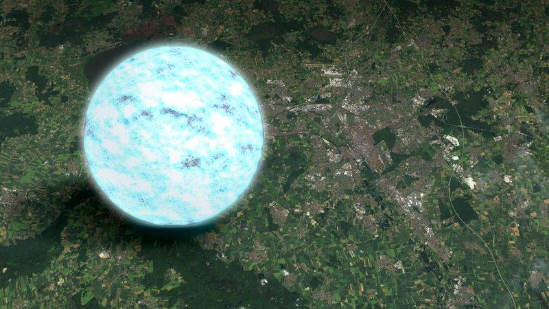 Quanto è grande una stella di neutroni?