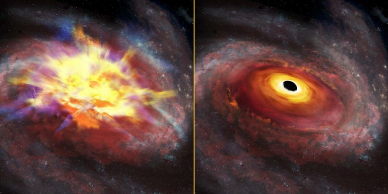 Raffiche violente dal quasar remoto
