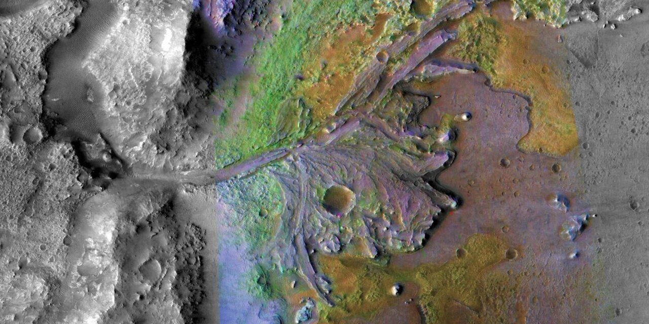 Il cratere Jezero e i suoi fiumi
