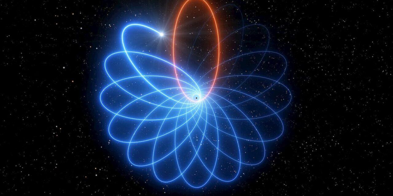 La danza a rosetta intorno al buco nero