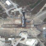 Scatto dallo spazio per Falcon 9 e Crew Dragon