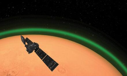 La prima aurora su Marte
