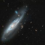 Una galassia spettrale nell'obiettivo di Hubble
