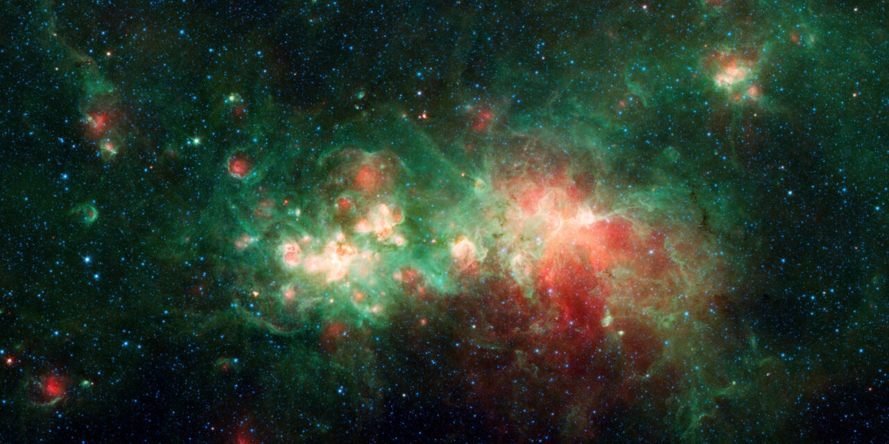 Una fabbrica di stelle nei dati di Spitzer