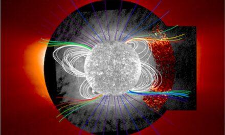 Occhio italiano sulle strutture di elio del Sole