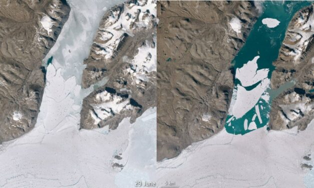 Un ghiacciaio in frantumi