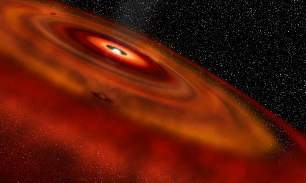 Da una stella al Sistema Solare: come si formano gli anelli protoplanetari
