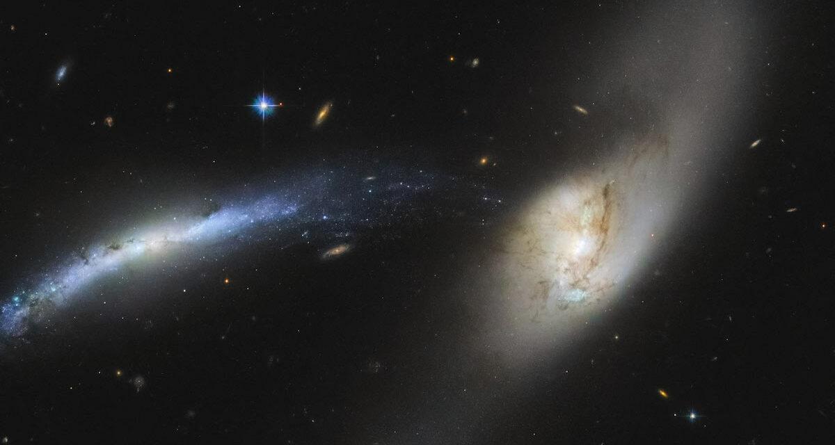 Fusione galatticanel mirino di Hubble