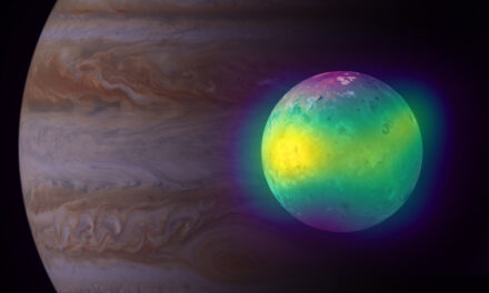 Alma rivela l'impatto dei vulcani nell'atmosfera di Io