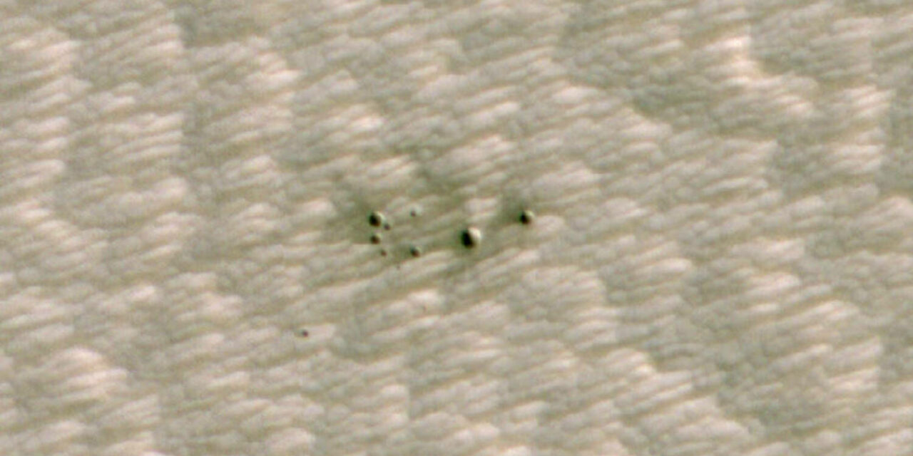 L'intelligenza artificiale rivelai crateri marziani
