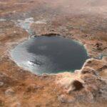 Il lago nel cratere Jezero