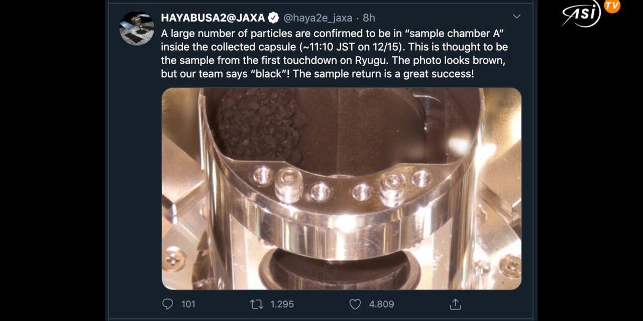 Ecco le polveri di Ryugu