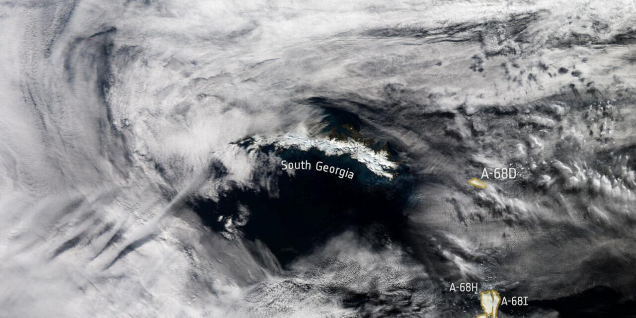 Sguardi spaziali sull'iceberg 'girovago'